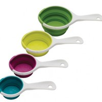 Chef'n SleekStor Pinch Pour Collapsible Measuring Cups, Trend Colors