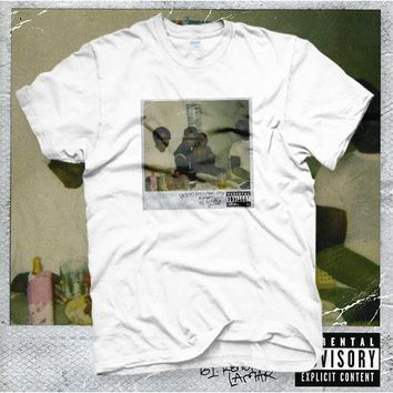 Kendrick Lamar Rapper Good kid, m.A.A.d city CD Cover Cotton T-shirt Tee T