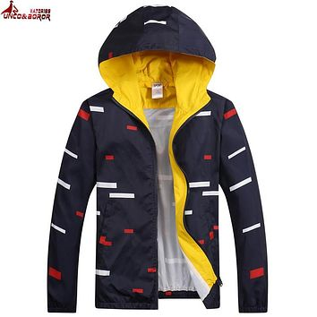 UNCO&BOROR new 2017 brand Men's Slim spring summer jacket coat autumn fashion leisure outwear sporting jacket men clothing