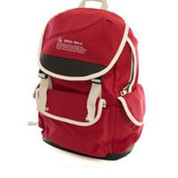 Cute Canvas Backpack for Girls - Red