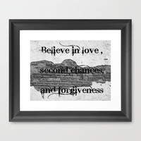 Believe Framed Art Print by Rainey's View | Society6