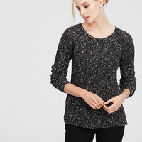 Petite Speckled Crew Neck Sweater | Ann Taylor