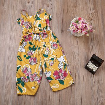 Girls  Floral Sleeveless Jumpsuit