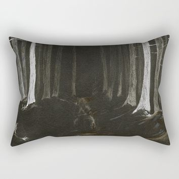 Season of the Land - Haunted Forest Rectangular Pillow by michael jon