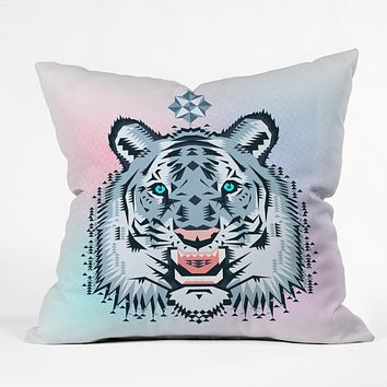 Chobopop Snow Tiger Throw Pillow