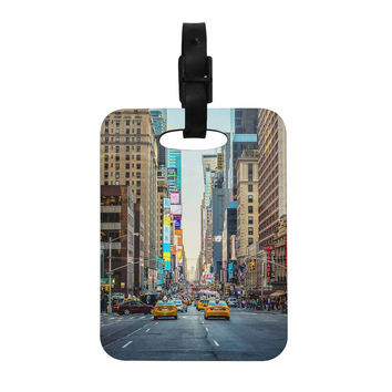 "Ann Barnes ""Sunset Over 7th"" Urban Photography Decorative Luggage Tag"