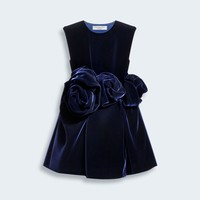 BABY DIOR EXCLUSIVE COLLECTION DRESS IN CORDUROY