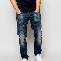 G-Star Jeans 3301 Slim Fit Blue Delm Stretch Mid Wash