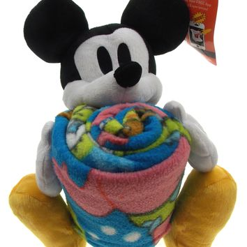 Disney Mickey Mouse Plush Hugger Spongebob Throw Set Soft Cuddly Stuffed