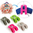 10PCS New Mini Home Creative Flocking Clothes Hanger Hook Closet Organizer Random Color
