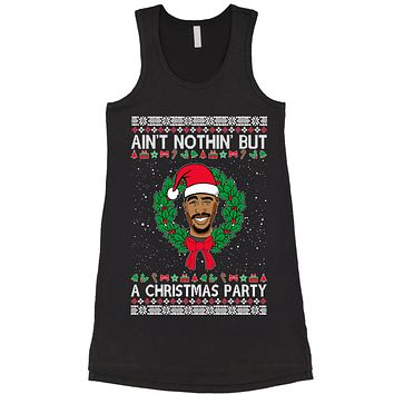 Tupac Ain't Nothing But A Christmas Party Racerback LBD Little Black Dress