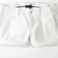 AEO Women's Twill Shortie (White)