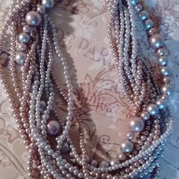 Talbot's Champagne Twist Pearl Necklace: