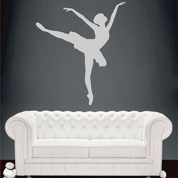 kik2267 Wall Decal Sticker ballerina dance ballet pas pirouette girl living room bedroom