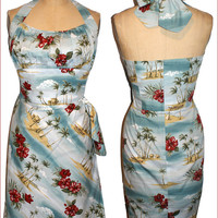 50s Hawaiian Love Song Dress...