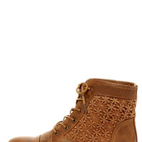 Wild Diva Lounge Tosca 85A Cognac Lace-Up Ankle Boots