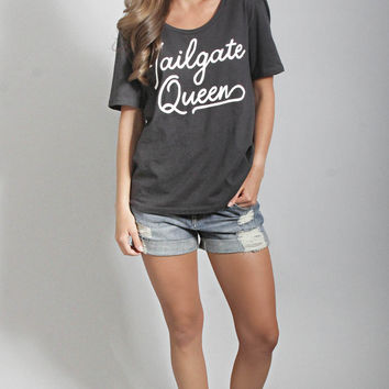 charlie southern: tailgate queen slouchy t shirt