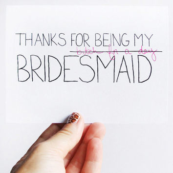 Thanks For Being My Bridesmaid Card Bridesmaid by JulieAnnArt