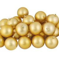"60 Christmas Ball Ornaments - 2.5 ""  - Gold"
