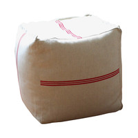 Feed Sack Cotton Pouf