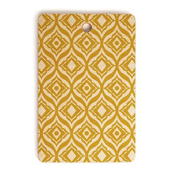 Heather Dutton Trevino Yellow Cutting Board Rectangle