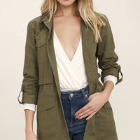Jack by BB Dakota Antigone Olive Green Jacket