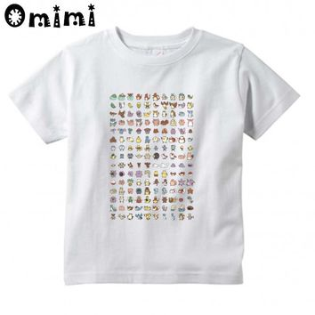 Boys and Girls Naruto Design T Shirt Kids Great  Ninja Casual Short Sleeve Tops Children's Japanese Anime Funny T-ShirtKawaii Pokemon go  AT_89_9