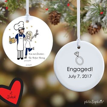 Perfect Pairing Engagement Ornament