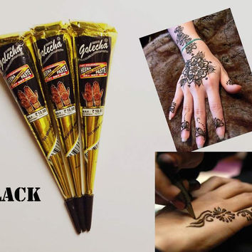25g Temporary Black Henna Tattoo stencils india for body Paste Tube Cone Body Art  body art painting products
