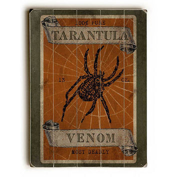 Tarantula Venom by Artist Beth Albert Wood Sign
