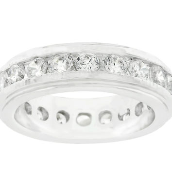 Trixie Lustrous Eternity Stackable Ring | 3ct | Cubic Zirconia
