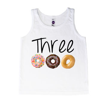 Three Birthday Donuts - Tank