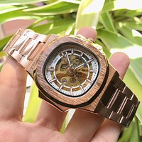 8DESS Patek Philippe Woman Men Fashion Automatic Mechanical Wristwatch Watch