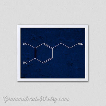 Science Dopamine Chemical Structure - Chemistry Poster Great Science Gift for Teachers