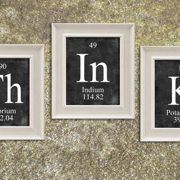 THINK Periodic Table Elements Print Art Illustration Printable Instant Download Poster UPT0012grad
