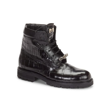 "Mauri - 4637 ""Commando"" Alligator/Ostrich Boot"