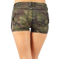 Tripp Camo Cargo Shorts :: VampireFreaks Store :: Gothic Clothing, Cyber-goth, punk, metal, alternative, rave, freak fashions