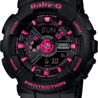 BA111-1A - Baby-G Black - Womens Watches | Casio - Baby-G
