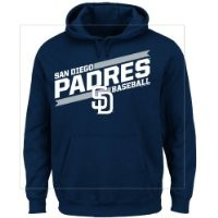 MLB San Diego Padres Men's Back The Field Fleece Hooded Sweater, Navy, X-Large