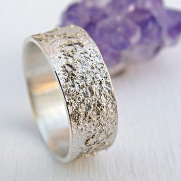 unique silver ring gold, unique promise ring mixed metal, viking wedding ring solid gold, cool wedding band unique, distressed ring artisan
