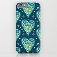 Floral Hearts iPhone & iPod Case by Sarah Oelerich