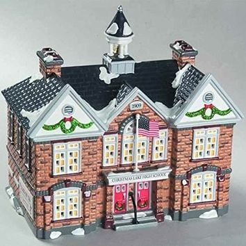 "Department 56 The Original Snow Village ""Christmas Lake High School"""