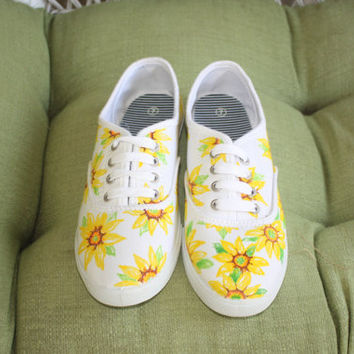 Sunflower canvas tennis shoes