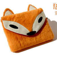 Microsoft Surface Book, Pro 4, 3 Sleeve Sir FOX Plush Unique / Sleeve for Surface PRO 2, PRO / Sleeve for Surface 3, Surface 2, Rt Handmade
