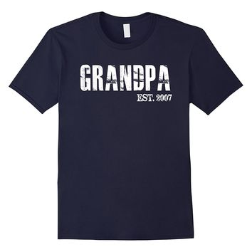 Mens Grandpa Est 2007 Father's Day Gift From Daughter Son T Shirt