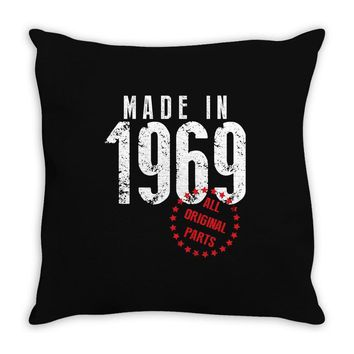 Made In 1969 All Original Parts Throw Pillow