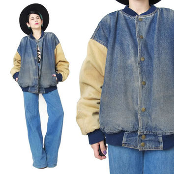 Vintage Mens Denim Work Jacket Denim from Honey Moon Muse