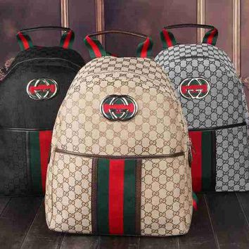 DCCKB3R Gucci Women Leather Bookbag Backpack Handbag
