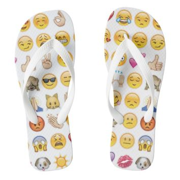 emoji flip flops sandals shoes