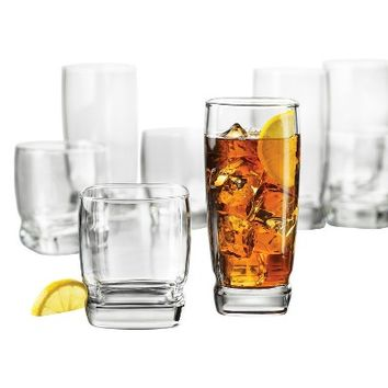 Libbey Glass 12pk Carrington Beverageware Set